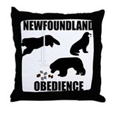 Newfoundland Utility Exercises Throw Pillow