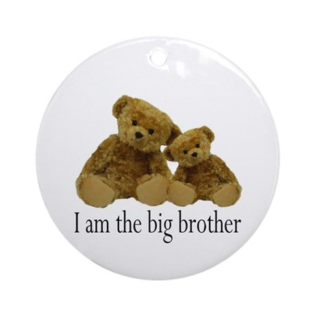 Two Bears Big Brother Ornament (Round)