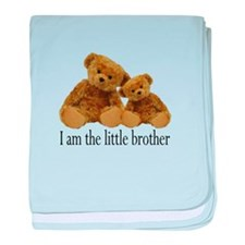Two Bears Little Brother baby blanket