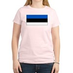 Estonia Estonian Blank Flag Women's Pink T-Shirt