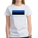 Estonia Estonian Blank Flag Women's T-Shirt