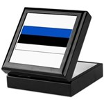 Estonia Estonian Blank Flag Keepsake Box
