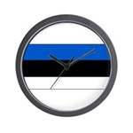 Estonia Estonian Blank Flag Wall Clock