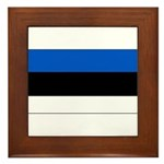 Estonia Estonian Blank Flag Framed Tile