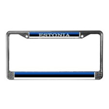 Estonia Estonian Blank Flag License Plate Frame