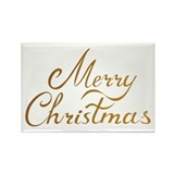 Merry Christmas Rectangle Magnet (10 pack)