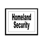 Homeland Security Framed Panel Print