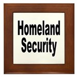 Homeland Security Framed Tile