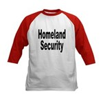 Homeland Security (Front) Kids Baseball Jersey