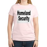 Homeland Security (Front) Women's Pink T-Shirt