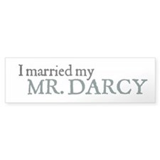 Jane Austen Married Darcy Bumper Bumper Sticker