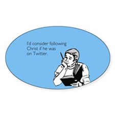 Christ Twitter Sticker (Oval)
