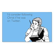 Christ Twitter Sticker (Rectangle)