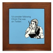 Christ Twitter Framed Tile
