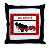 Newfoundlands We Cart Throw Pillow