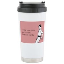 Mom Facebook Ceramic Travel Mug