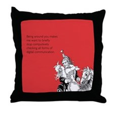 Being Around You Throw Pillow
