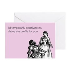 Dating Profile Greeting Card