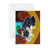 St. Puggy's Day Greeting Cards (Pk of 10)