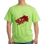 Get Down Jiu Jitsu skull Green T-Shirt