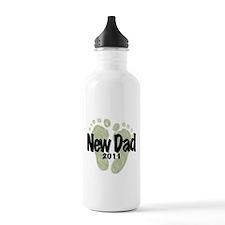 New Dad 2011 (Unisex) Water Bottle