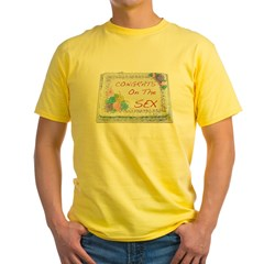 I Had Sex Yellow T-Shirt