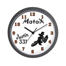 Justin #331 Motocross Wall Clock