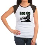 Log On Women's Cap Sleeve T-Shirt