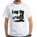 Log On White T-Shirt