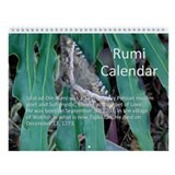 Rumi Quote Wall Calendar