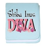 Shiba Inus DIVA baby blanket