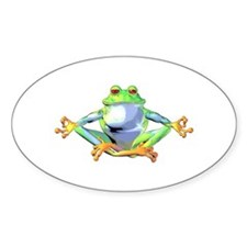 Meditating Frog Decal