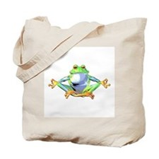 Meditating Frog Tote Bag