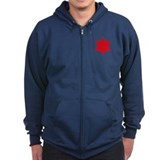 Red Star Zip Hoodie (Dark)