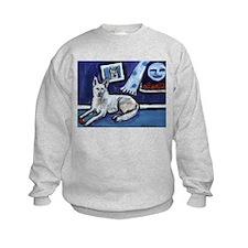 American White Shepherd smili Sweatshirt