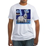 BERGAMASCO SHEEPDOG smiling m Fitted T-Shirt