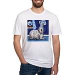 BERGAMASCO SHEEPDOG smiling m Fitted T-Shirt