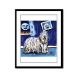BERGAMASCO SHEEPDOG smiling m Framed Panel Print