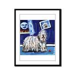 BERGAMASCO SHEEPDOG smiling m Framed Panel Print