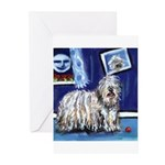 BERGAMASCO SHEEPDOG smiling m Greeting Cards (Pack