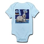 BERGAMASCO SHEEPDOG smiling m Infant Creeper