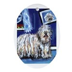 BERGAMASCO SHEEPDOG smiling m Oval Ornament