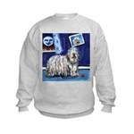 BERGAMASCO SHEEPDOG smiling m Kids Sweatshirt