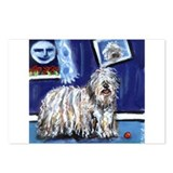 BERGAMASCO SHEEPDOG smiling m Postcards (Package o