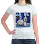 BERGAMASCO SHEEPDOG smiling m Jr. Ringer T-Shirt