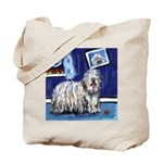 BERGAMASCO SHEEPDOG smiling m Tote Bag