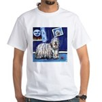 BERGAMASCO SHEEPDOG smiling m White T-Shirt