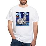 BERGAMASCO SHEEPDOG smiling m White T-Shirt