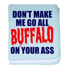 Buffalo Football baby blanket