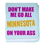 Minnesota Football baby blanket